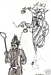"""FROM WIZARD OF OZ FREEMAN INK 7 1/4"""" X 10"""""""