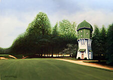 GOLF ART - PINE VALLEY NJ  4-Holes 5th 10th 12th 18th Holes at one Price signed