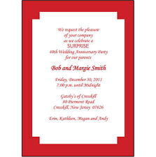 25 Personalized 40th Wedding Anniversary Party Invitations  - AP-004