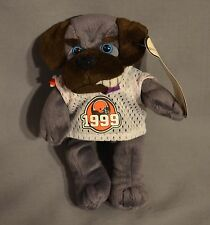 "Cleveland Browns Gray Bulldog ""Trapper"" COOLBEANS BURGER KING Beanbag Plush"