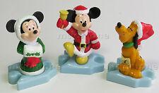 LOOSE SET 3 McDonald's 2000 Disney Video Showcase MICKEY MOUSE Minnie Christmas