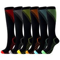 KE_ Men Stripes Long Knee Thigh High Stockings Athletic Football Running Sport