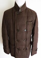 $4370 BRUNELLO CUCINELLI Brown Goose Down Padded Jacket Coat Size 2XL XXL