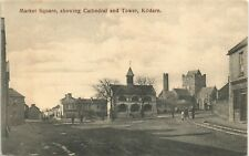More details for kildare. market square showing cathedral & tower.