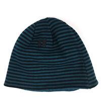 Stripe reversible beanie hat cap winter koala brand? green black hbw14