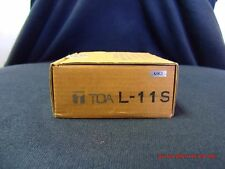TOA L-11S Line Matching Input with Mute-Receive new old stock