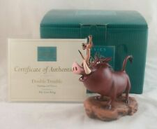 """Disney WDCC """"Double Trouble"""" Pumbaa and Timon from The Lion King in Box with COA"""