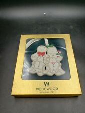Wedgwood Gingerbread Family Porcelain Christmas Tree Ornament New