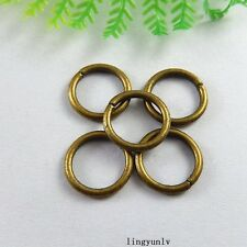 100pcs Antiqued Bronze Metal Jump Rings 14mm Charms Pendant Jewelry Crafts 51234