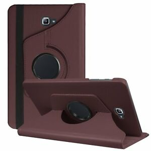 """Samsung Galaxy Tab A 10.1"""" 2016 Leather Case Cover w/ 360 Rotating Viewing Stand"""