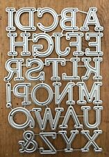 Metal Cutting Dies - Full UPPERCASE ALPHABET Large Letters (R22)