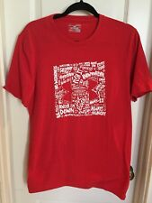 Under Armour Men's Graphic T Shirt Red Small Loose Fit Heat Gear
