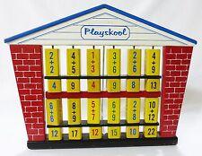 Playskool math counting schoolhouse wooden flip toy educational fun vintage