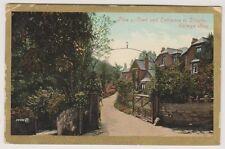 Wales postcard - Plas y Coed & Entrance to Dingle, Colwyn Bay - P/U 1908