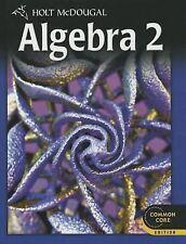 Holt Mcdougal Algebra 2 Ser.: Algebra (2012, Hardcover, Student Edition of...