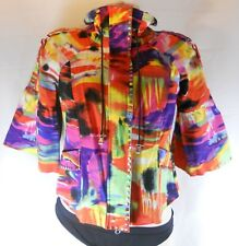 Berer Women's The Collective Works Colorful Studed Jacket Size Medium