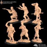 Plastic Platoon Toy Soldier Greek Infantry & Militia Battle of Crete 1941, 1/32
