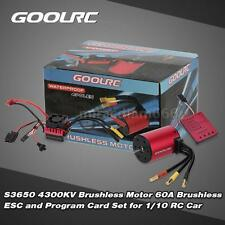 GoolRC S3650 4300KV Brushless Motor 60A Brushless ESC and Program Card Z9Q9