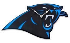 Carolina Panthers 3D Fan Foam Logo Wanduhr,NFL Football,Relief Wall Clock,47cm