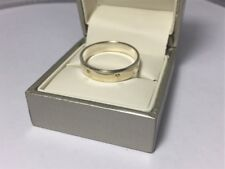Sterling Silver Yellow Gold Screw Band Ring