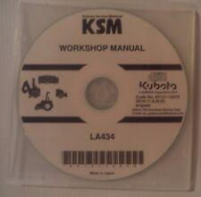 NEW FACTORY ORIGINAL KUBOTA  LA34 LOADER ATTACHMENT WORKSHOP DVD/CD  2014