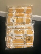 5X New Business and Pleasure Co Insulated Cooler Bag Yellow White Stripe Gift