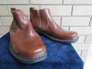 MENS DEER STAGES BRAND SIZE  11 D Brown Zippered Work Boots