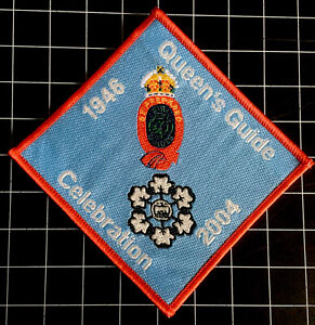 Queen's Guide Celebration Badge Patch Guiding 1946-2004 Sew On Camp Blanket