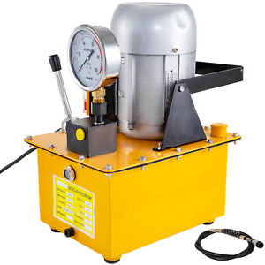 750W Electric Driven Hydraulic Pump 8L Oil Capacity 220V 10000PSI Single Acting