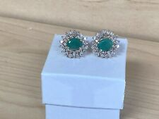Tcw Natural Emerald and Diamond Earrings New listing
