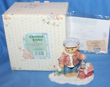 Cherished Teddies Rich Always Paws For Holiday. Figurine # 352721 1998 Enesco