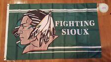 UND Fighting Sioux University North Dakota Hockey Football 3'X5' Flag Banner