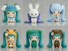 "Vocaloid Hatsune Miku Figures Snow Miku 6pcs Set Figurine 2"" New In Box PVC"