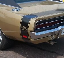 "1969 CHARGER RT R/T BUMBLE BEE REAR STRIPES KIT DECAL MOPAR 69 ""MATT BLACK"""