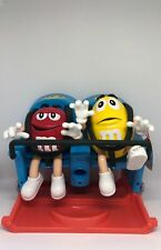 M&M's World Roller Coaster Candy Dispenser Red Yellow New with Tag