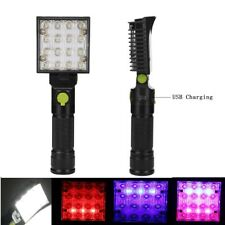 16LED Magnetic Flashlight Torch Light Rechargeable Rescue Beacon  Warning Lamp