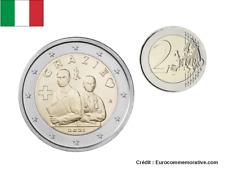 PREVENTE 2 Euros Commémorative Italie 2021 GRAZIE - UNC