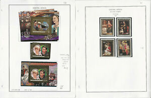 Central Africa Stamp Collection on 7 Steiner Pages, 1984-1990 Airpost, JFZ