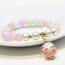 Jewelry Crystal Beaded Lucky Bracelet Lucky Cat Bracelet Natural Stone