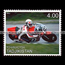 ★ STEVE BAKER (SUZUKI 750) ★ TADJIKISTAN Timbre Moto / Motorcycle Stamp #339