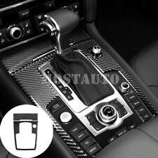 For Audi Q7 Carbon Fiber Center Console Gear Shift Box Cover Trim 2pcs 2008-2015