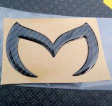 3D Carbon Fiber Black Bat M Side Door Rear Trunk Tailgate Emblem Badge for Mazda