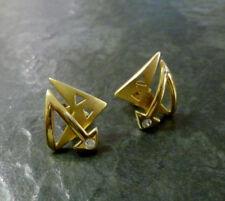 Goldohrringe Bergkristall 375er Gold Ohrstecker Ohrringe Goldohrstecker 9 kt GG