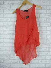 WISH Top/blouse Sz S/10 Fluent top Fire, coral BNWT