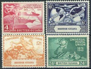 sa4743 British Guiana - Sc#246-49 Hinged with Remnants