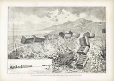 DISASTRO FERROVIARIO AVENZA SARZANA 1881 Railway Disaster - Incisione 1800