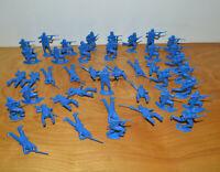 "Vintage MPC CIVIL WAR UNION SOLDIER Plastic Figures Lot 2"" Tall Blue Toy Soldier"