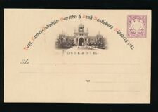 BAVARIA BAYERN POSTAL STATIONERY ILLUSTRATED 5pf CARD 1882