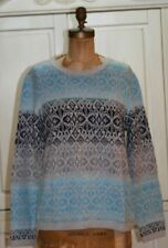 Talbots~NWT~Blue glacier Fair Isle OMBRE sweater~1X~Retail $99