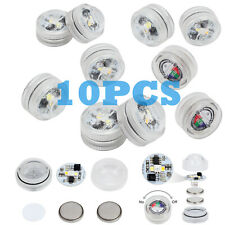 10PCS LED Unterwasser RGB Licht Deko Beleuchtung Lampe Aquarium Pool + Batterien